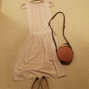 Open Back Silk Dress